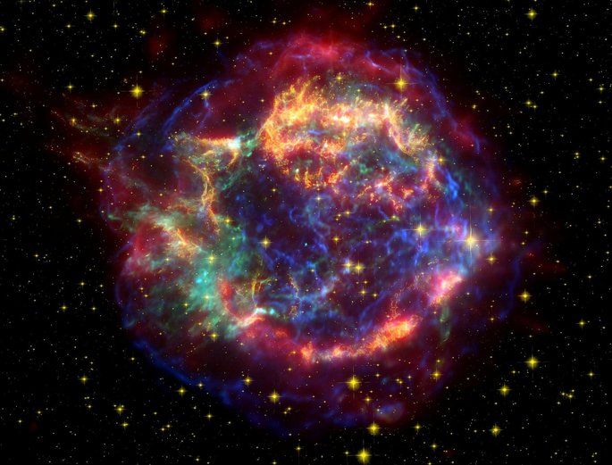 representacion e la supernova cassiopeia