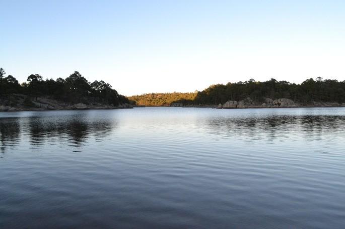 Lago de Arareco en Chihuahua Mexico es un ecosistema acuatico