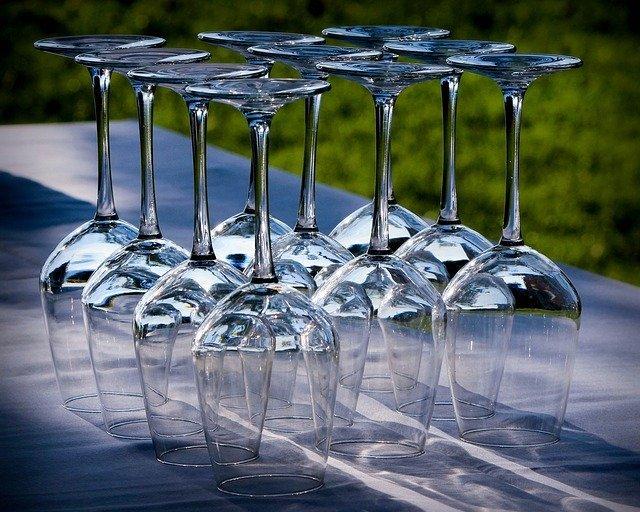 copas de vidrio de plomo, llamado cristal