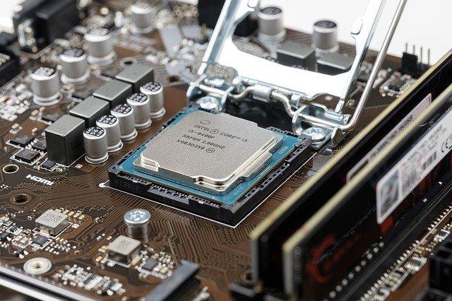 imagen parcial de un microprocesador