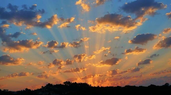 rayos crepusculares fenomenos naturales