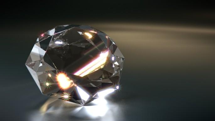 reflexion interna total de un diamante