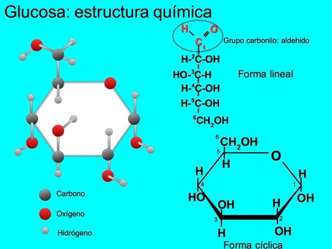 Glucosa estructura quimica