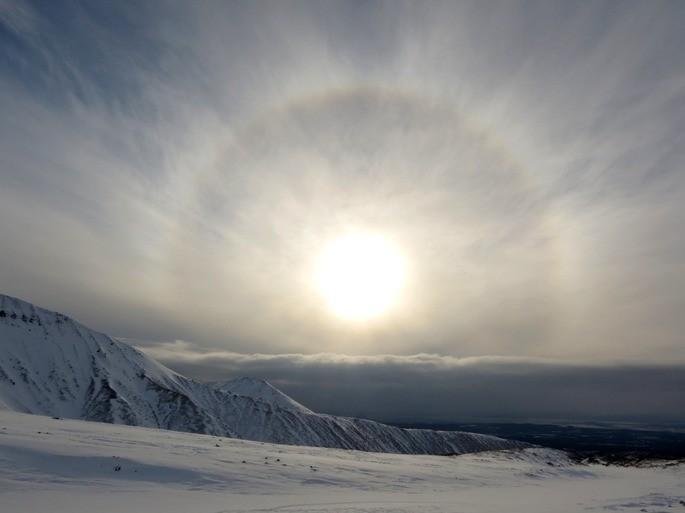 Halo alrededor del sol fenomeno natural