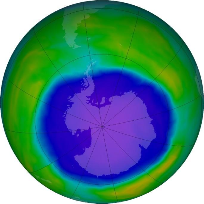 Hueco de ozono en la antartica fenomeno quimico