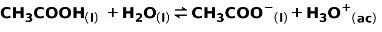ionizacion acido debil acido acetico