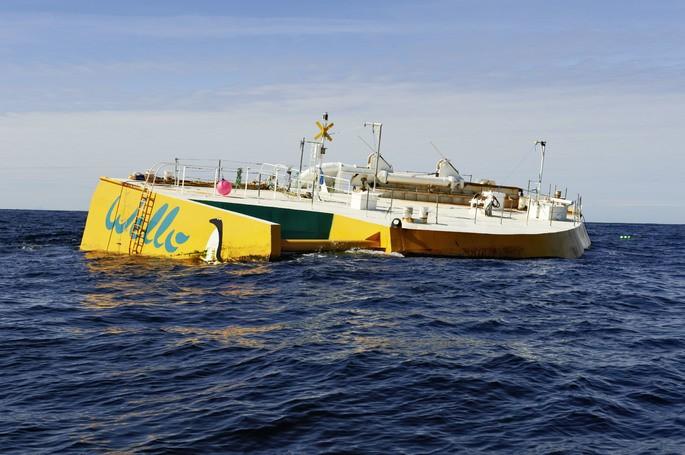 Planta electrica de olas 'Penguin' de la compañia finlandesa Welly Oy
