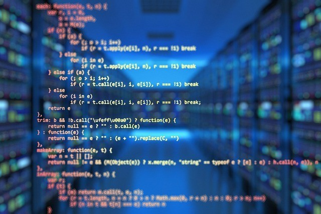 lenguaje artificial, fragmento de código de programación