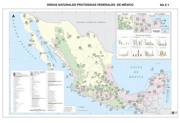 mapa de áreas naturales protegidas federales de México