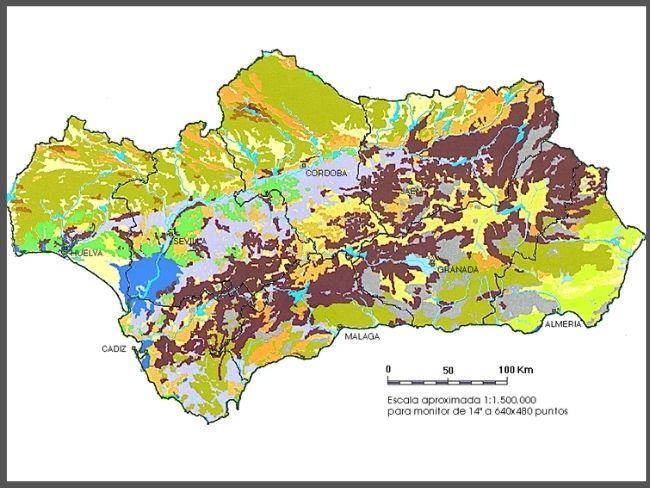 Mapa edafológico o mapa de suelos