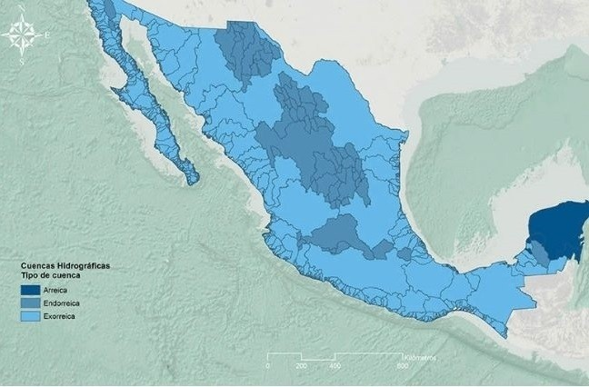 Mapa hidrológico