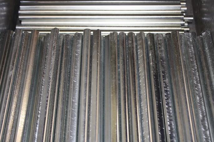 barras de acero procesadas en el sector secundario