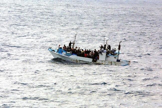 tipos de migración, migración forzada, personas migrando en una embarcación